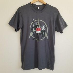 U2 360 Degrees Tour Graphic Band T Shirt M